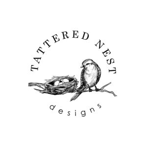 Tattered Nest Designs round logo