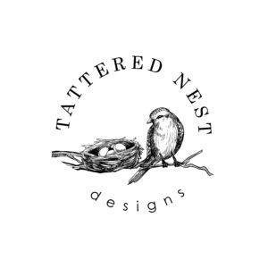 Tattered Nest Designs round logo