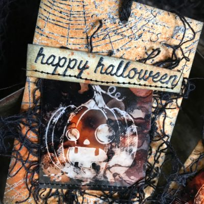 A Mini Tutorial: Halloween Resist Treat Bag Tags