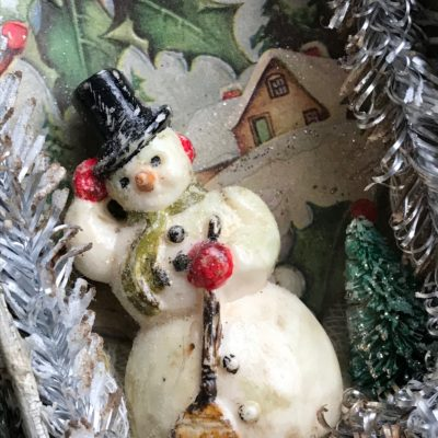 A Mini Tutorial: A Vintage Salvaged Snowman