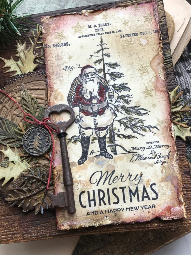 Tim Holtz Stampers Anonymous Cling Stamps Festive Overlay