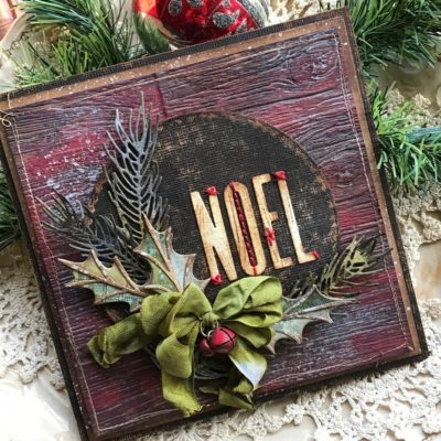 Sharing with Sizzix…NOEL: A Christmas Card and Ribbon Tutorial